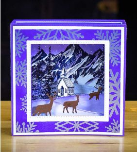 Stampscapes Diorama Christmas / Winter Cards, Thursday 11:30a-1:30p